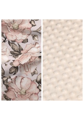 Kleinkind-Decke Little Birds mit beigem Minky