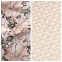 Kleinkind-Decke Spring Flowers mit beigem Minky