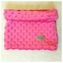 Loop-Schal aus pinkem Minky