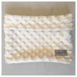 Loop-Schal aus beigem Minky