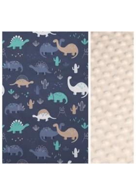 Kleinkind-Decke Grey Bears mit hellgrauem Minky