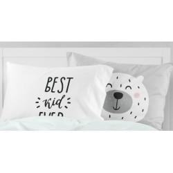 Kuschel-Kopfkisen Best Bears Pastelgrey mit hellgrauem Minky