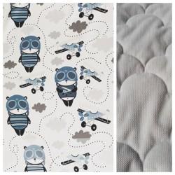 Velvet Kinder-Schlafkissen Panda Pilot