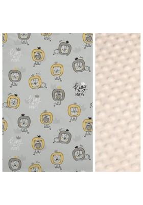 Kinder-Decke Arctic Bears mit türkisem Minky