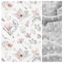 Kinder-Decke Pastel Flower mit hellgrauem Minky