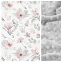 Kinder-Schlafkissen Pastel Flower mit hellgrauem Minky