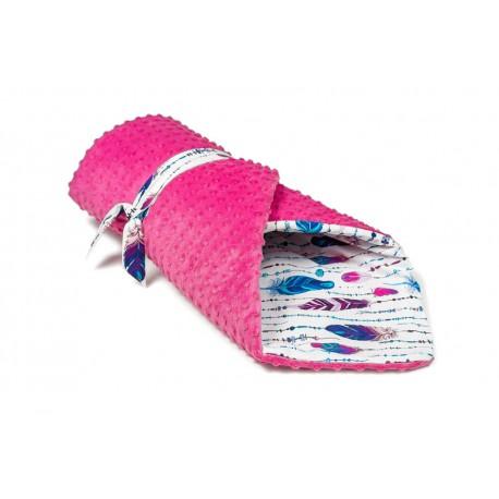 Steckkissen Electric Feather mit pinkem Minky